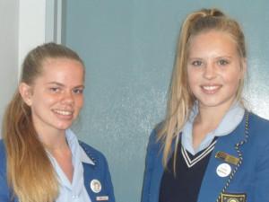 Marilene van Wyk (links) en Kayla Henning.