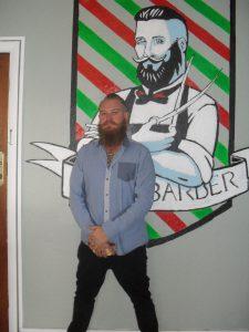Wesley McIntyre at ease in Mic's Barber.