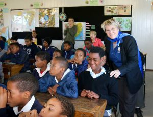 DA councillor Grose with the learners.