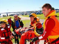 Medical rescue scenarios were practiced at the NSRI. Potos: NSRI & Melkbos.net