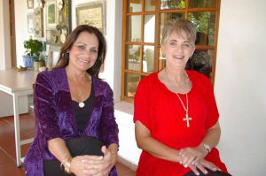 Amor with Carla van der Spuy who wrote the book. Photo: Provided