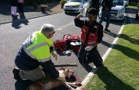 Paramedics got a surprise this morning …