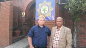 Afriforum's Hillel Coetzer and Charlene's father Charlie Daniels. Photos: Afriforum