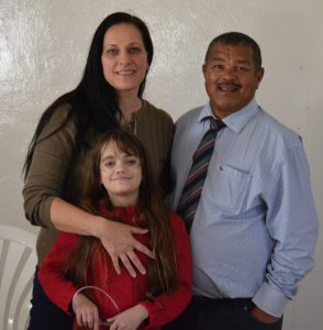 Alta Smith, pastor Fritz and Tiana-Leigh. Photo: Provided