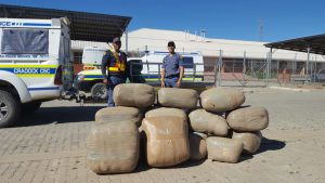 The huge haul of dagga. Photo: SAPS
