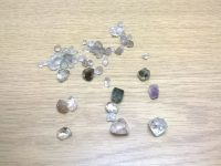 Some of the 57 stones, which are possibly uncut diamonds.