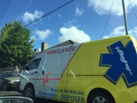 Paramedics rushed to the scene in Boston this morning. Photo: South African Paramedic Services