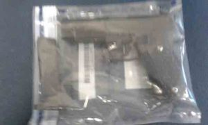 The realistic-looking 'firearm' that was used during the incident. Photo: SAPS