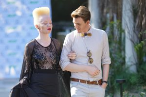 Gert-Johan and model Thando Hopa.