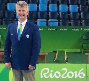 Jacques Erasmus at the Rio Olympics. Photo: Facebook