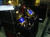 Liquor seized during the operation in Darling. Photo: SAPS