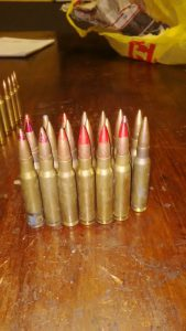 Ammunition found in Atlantis Industria. Photo: SAPS
