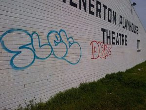 Not even the Milnerton Playhouse Theatre has been spared. Photos: SAPS