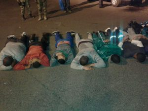 19 Suspected poachers were arrested early this morning. Photos: SAPS