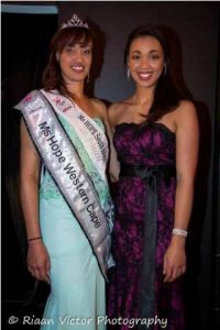 Quinlene (right) challenged Raylene to enter the pageant.