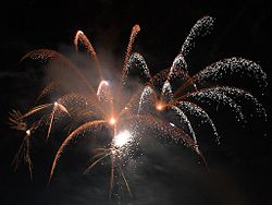 Fireworks illuminate the sky. Photo: Wikipedia.org