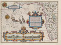 This map from 1595/6 is currently on auction. Photos: AntiquarianAuctions.com