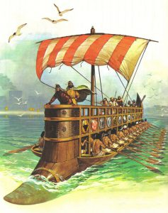 A Phoenician ship and crew. Illustration: Pinterest