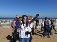 'Keelvol': Protest in Bloubergstrand