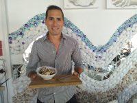 Michael Kupferberg with his Crunchy Peanut Butter beer ice cream. Photos: Melkbos.net