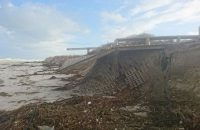 A City official was injured this morning when a dune collapsed at Big Bay Beach. Photos: City of Cape Town