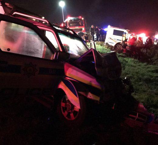 Police Vans Collide Outside Melkbosstrand